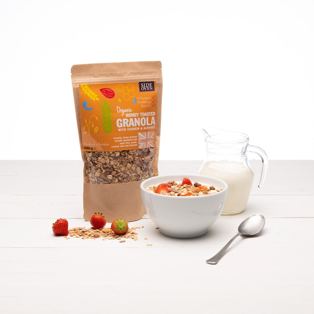 Side Oven Bakery organic granola with cashews and almonds