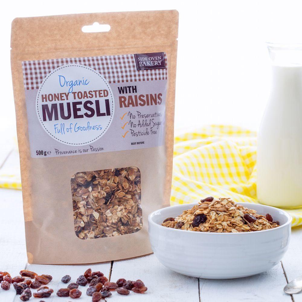 Side Oven Bakery organic muesli with raisins