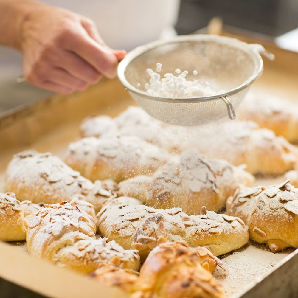 Breadmaking course stollen and breads for Christmas