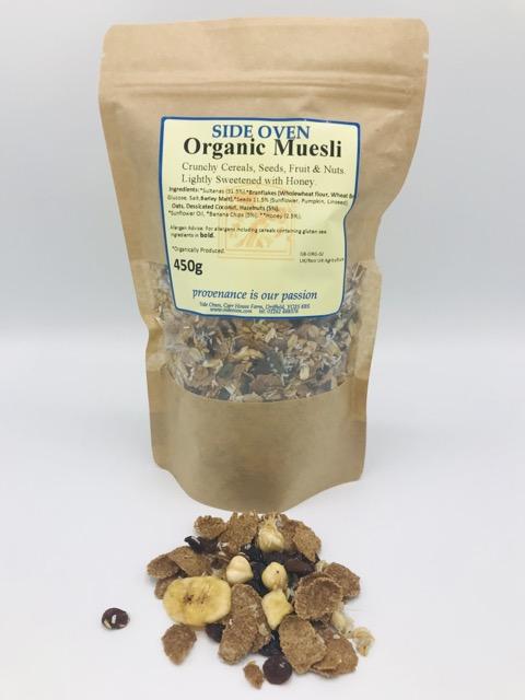 Side Oven Bakery organic muesli with banana sultana and hazelnut